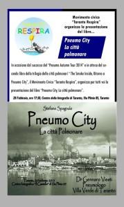 """Presentazione del libro PneumoCity """" La citta' polmonare """""""